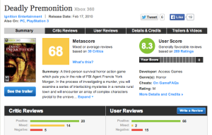 """In no way should a review give a game a ""9"" while another gives it a '3'."""